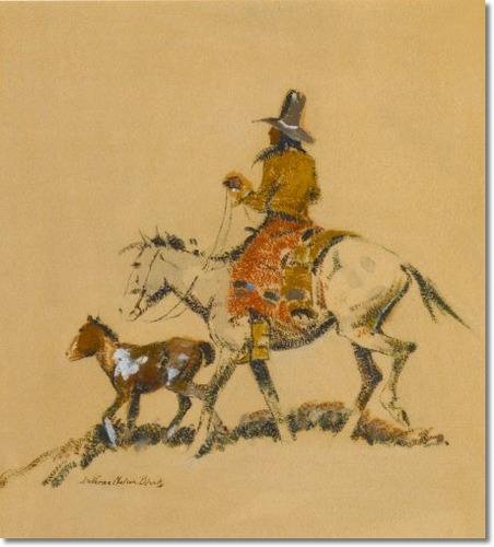 Indian Leading a Pony