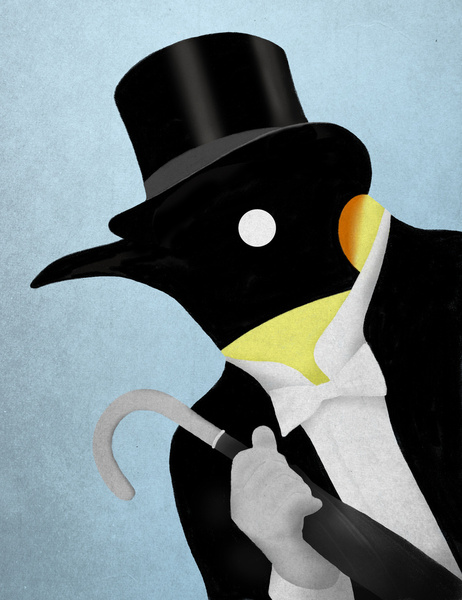 Penguin Dressed Up